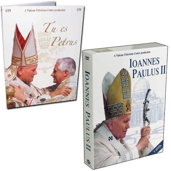 Picture of John Paul II - The Pope who made history - 5 DVDs + Benedict XVI The Keys of the Kingdom - 6 DVD