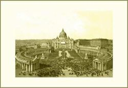 Picture of St Peter's Basilica and Square, Felix Benoist - PRINT