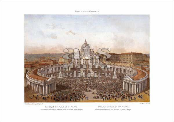 Picture of St Peter's Basilica and Square, Rome, Felix Benoist - PRINT-2