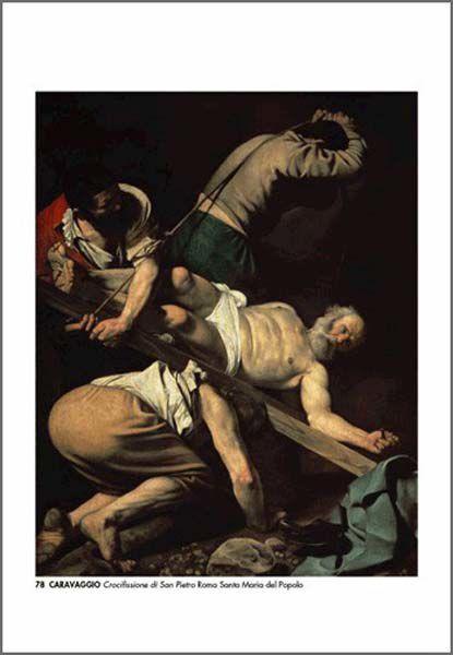 Picture of Crucifixion of St Peter, Caravaggio - Santa Maria del Popolo, Roma - PRINT