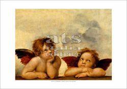 Picture of Sistine Madonna (detail: Angels) Raphael - Gemäldegalerie, Dresda - PRINT