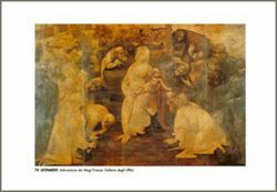 Picture of Adoration of the Magi, Leonardo - Uffizi Gallery, Florence - PRINT