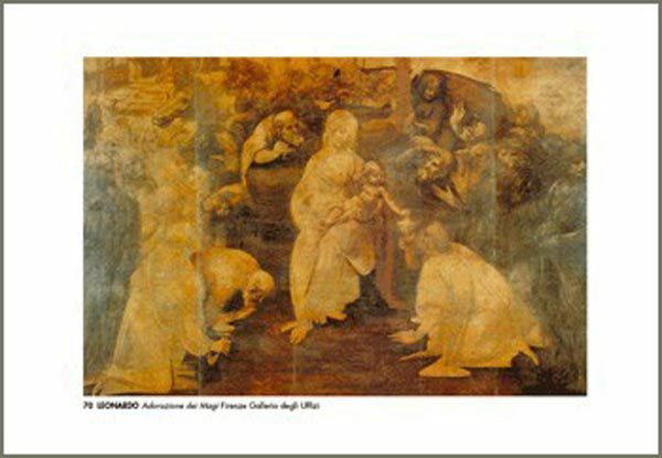 Imagen de Adoración de los Magos, Leonardo - Galeria de los Uffizi, Florencia - ESTAMPA