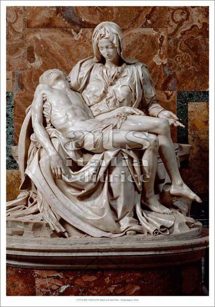 Immagine di Pietà. Michelangelo - Basilica di San Pietro, Citta' del Vaticano - STAMPA