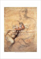 Picture of Madonna with Child- Michelangelo - Casa Buonarroti, Florence - PRINT