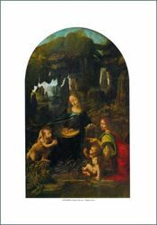 Picture of Virgin of the Rocks - Leonardo PRINT