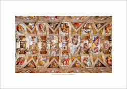 Picture of Sistine Chapel Ceiling, Michelangelo - Vatican City - PRINT