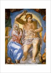 Picture of The Last Judgment, Michelangelo - Sixtine Chapel, Vatican City - PRINT