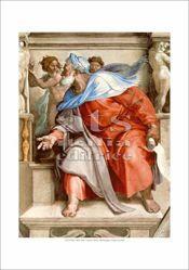 Picture of Prophet Ezekiel, Michelangelo - Sistine Chapel, Vatican City - PRINT
