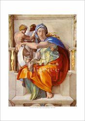 Picture of Delphic Sybil, Michelangelo - Sistine Chapel, Vatican City - PRINT