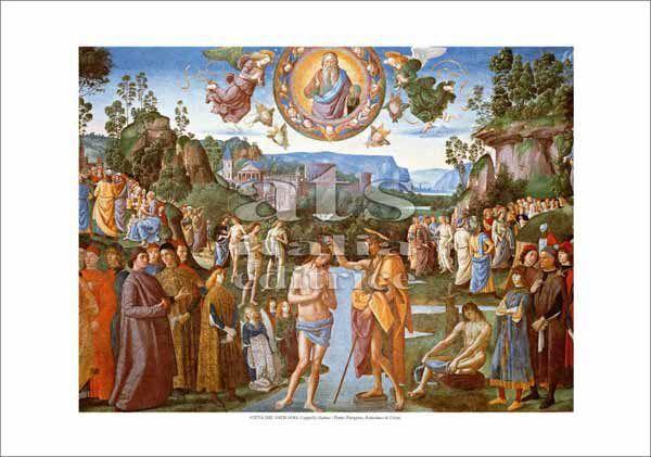 Picture of Baptism of Christ, Perugino - Sistine Chapel, Vatican City - PRINT