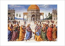 Picture of Christ giving the Keys to St. Peter, Perugino - Sistine Chapel, Vatican City - PRINT
