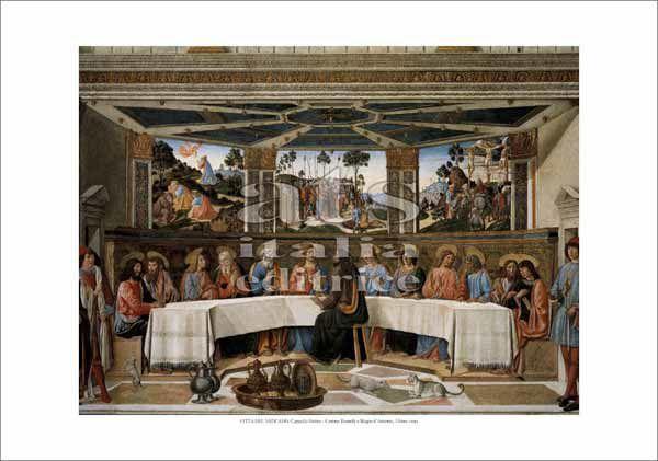 Picture of Last Supper, Rosselli and D' Antonio - Sistine Chapel, Vatican City - PRINT
