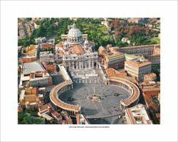 Picture of St Peter's Square and Basilica - POSTER