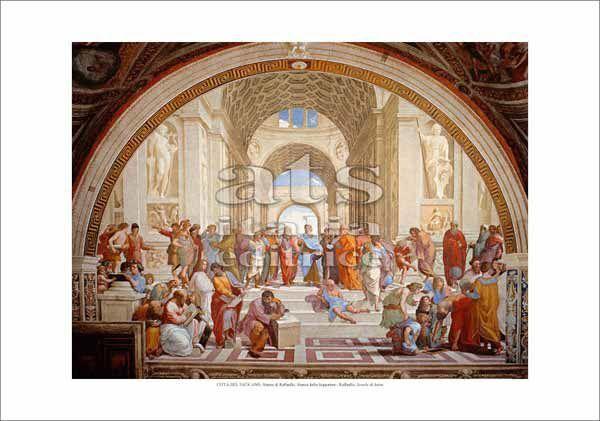 Picture of The School of Athens, Raphael - Stanza della Segnatura, Vatican City - PRINT