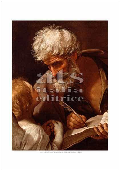 Picture of The inspiration of St. Mattew, Guido Reni - Pinacoteca, Citta' del Vaticano - PRINT