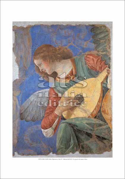 Picture of Angel playing the lute, Melozzo da Forlì - Vatican Museums, Vatican City - PRINT