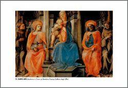Picture of Madonna with Child and Saints (Pala del Noviziato) Filippo Lippi - Uffizi Gallery, Florence - PRINT