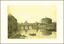 Picture of Bridge and Castel Sant' Angelo, Felix Benoist - PRINT