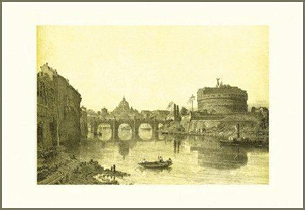Picture of Bridge and Castel Sant' Angelo, Felix Benoist - PRINT
