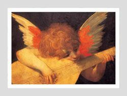 Picture of Musician Angel, Rosso Fiorentino - Uffizi Galley , Florence - PRINT