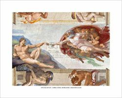 Picture of The creation of Adam, Michelangelo - Sistine Chapel, Vatican City POSTER