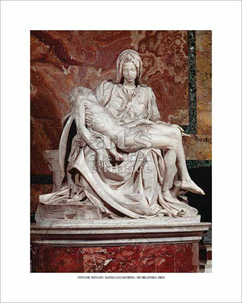 Picture of Pietà, Michelangelo - St Peter's Basilica, Vatican City - POSTER