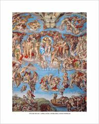 Picture of The Last Judgment, Sistine Chapel, Michelangelo - PRINT