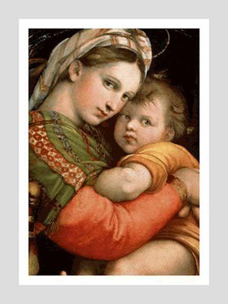 Picture of Madonna della Seggiola - Raphael- Galleria Palatina, Florence - POSTER
