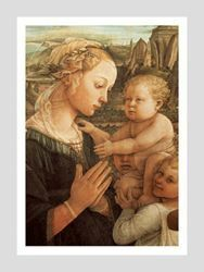 Picture of Madonna and Child - Filippo Lippi - Uffizi Gallery, Florence - POSTER