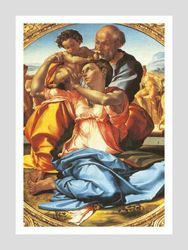 Picture of Holy Family (Doni Tondo)- Michelangelo - POSTER