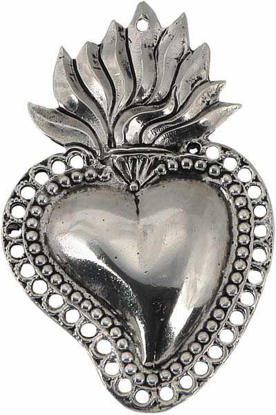 Picture of Sacred Heart of Jesus, big - EX VOTO (AEX501)