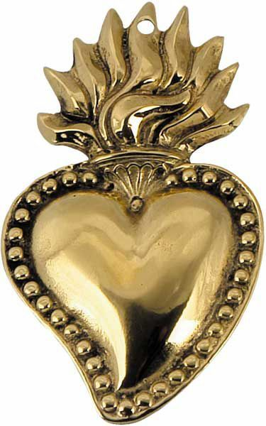 Imagen de Sagrado Corazón de Jesús, pequeño - EX VOTO (AEX503)