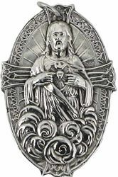Picture of Sacred Heart - Gold or silver plated Confraternity Medal (AMC392)