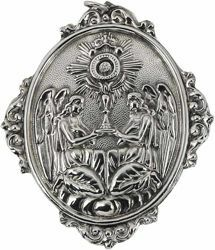 Picture of Monstrans - Gold or silver plated Blessed Sacrament Confraternity Medal (AMC393)