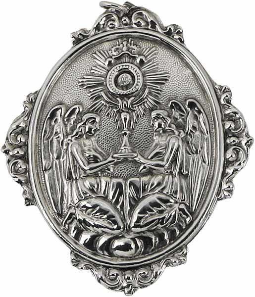 Immagine di Ostensorio - Medaglia Confraternita Santissimo Sacramento, bagno oro o argento (AMC393)