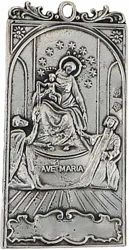 Picture of Ave Maria - Gold or silver plated Confraternity Medallion (AMC 396)