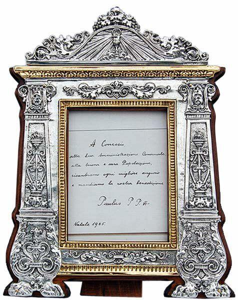 Imagen de Sacra con marco en madera, baño en oro  (ACG170GS)
