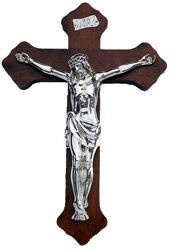 Picture of Silver and wooden crucifix