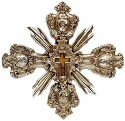 Picture of Baroque Cross, gold bath