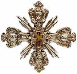 Immagine di Croce barocca, bagno oro