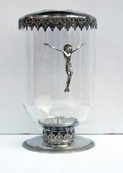 Picture of Candle-holder with glass, silver bath