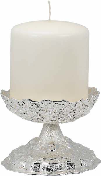 Picture of Candle Holder, base in silver bath
