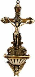 Picture of Crucifix with Angel - HOLY WATER STOUP (AAC190)