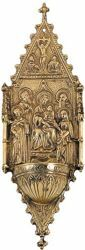 Picture of Mother Mary with Child and Saints - HOLY WATER STOUP (AAC355)