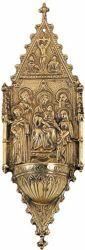Imagen de Virgen con Niño y Santos - PILA DE AGUA BENDITA (AAC355)
