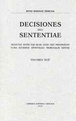 Picture of Decisiones Seu Sententiae Anno 2002 Vol. XCIV 94