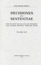 Imagen de Decisiones Seu Sententiae Anno 2002 Vol. XCIV 94