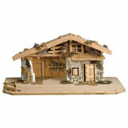 Picture of South Tyrol stable cm 10 (3,9 inch) for Ulrich Nativity Scene in Val Gardena wood