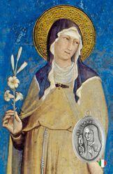Imagen de Santa Chiara - Immagine sacra con medaglia